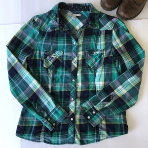 Old Navy Medium Snap Closure Flannel Shirt